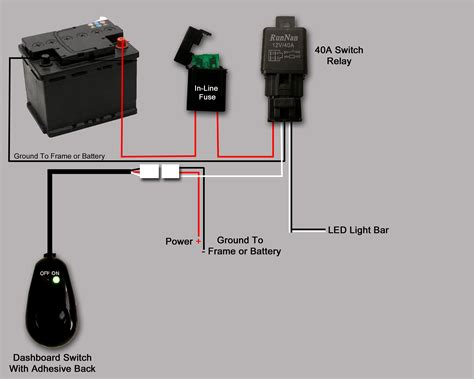 led light bar wiring diagram without relay harness for