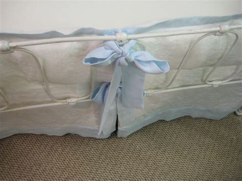 Tailored Crib Bedding Vintage White And Light Blue Washed White And Blue Crib Bedding
