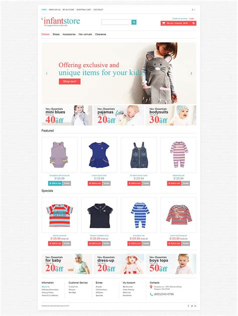 download template toko online opencart 10 opencart baby store templates free psd eps ai format