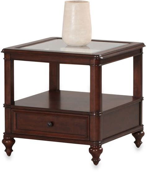 bathroom accent tables bed bath beyond klaussner kinston end table in cherry