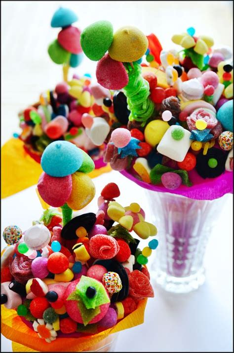 bouquet de bonbons candy flowers diy chuches