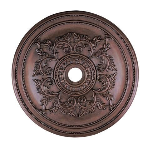 Ceiling Light Medallions Shop Livex Lighting Imperial Bronze Ceiling Medallion At