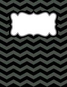 black and white binder cover templates 1000 ideas about chevron binder covers on