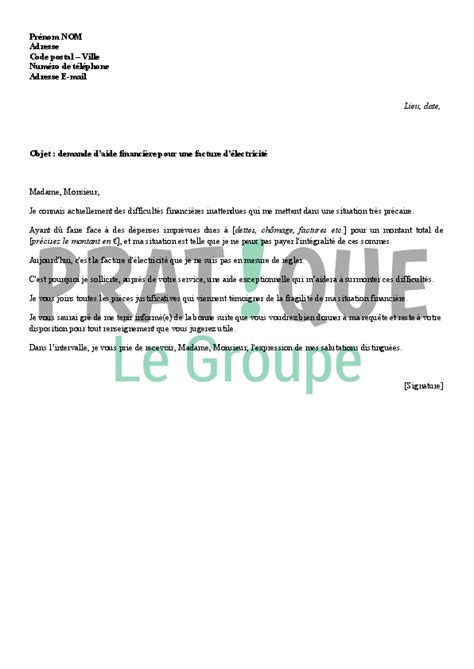 Lettre De Soutien Financier Pour Visa Application Letter Sle Modele De Lettre De Demande Financiere
