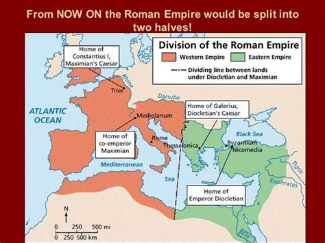 why was the roman empire divided into two sections what happened to the great roman empire ppt download