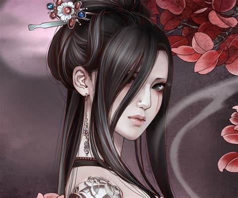geisha assassin tattoo geisha princess anime girl backgrounds and avatars