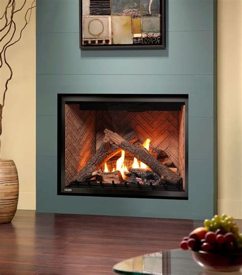 The Fireplace by Montigo Gas Fireplace H Series Single Sided H34df