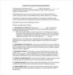 consulting agreements template 10 consultant agreement templates free sle exle