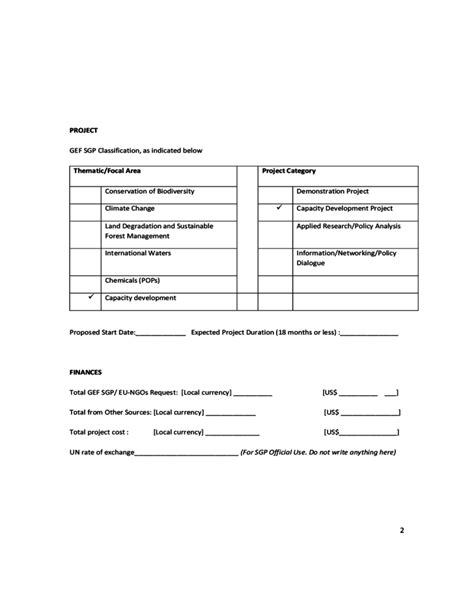 proposal format ngo eu ngos project proposal template undp free download