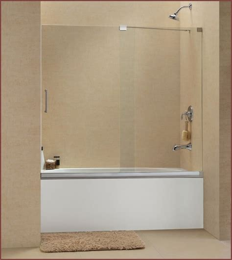 frameless sliding glass bathtub doors home design ideas
