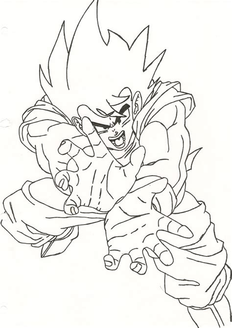 goku kamehameha coloring pages father son kamehameha gohan coloring coloring pages