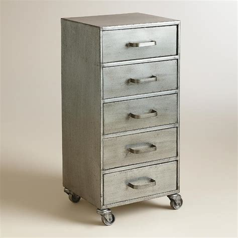 Metal Storage Drawers Cabinets by Metal Five Drawer Jase Rolling File Cabinet
