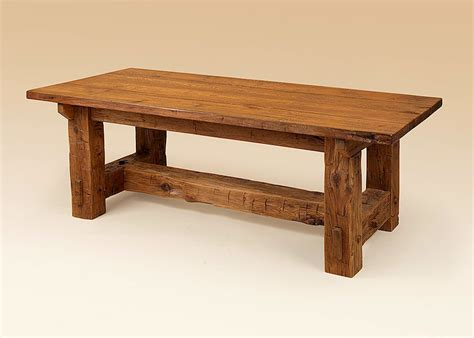 designer barnwood table