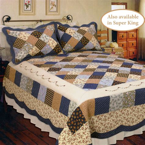 Patchwork Bed Quilts - williamsburg cotton patchwork quilt bedding