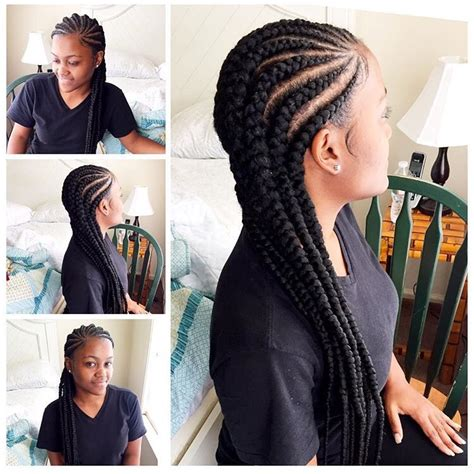 Cornrow Hairstyles For Black Women With Part In The Middle | cornrows for black women everything hair pinterest