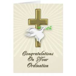 ordination congratulations with a golden cross card zazzle