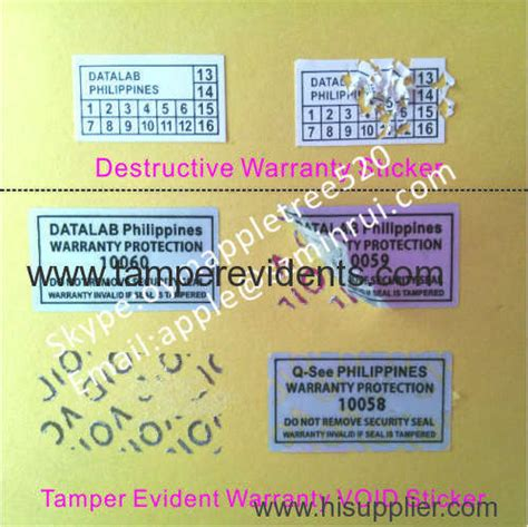 Label Stiker Nama Water Proof Size S Hello warranty void protection labels do not remove security