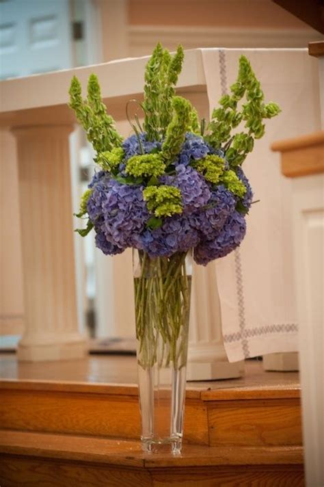 Wedding Bell Hydrangea by Blue Hydrangea Bells Of Ireland Floral