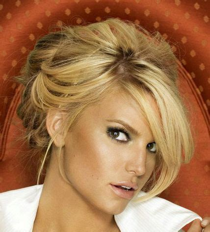 jessica simpson hairstyles with bangs updo wedding makeup and jessica simpsons on pinterest