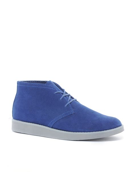 More On Monday Blue Shoes And Happiness By Mccall Smith by Cheap Monday Alladin Chukka Boots In Blue For Lyst