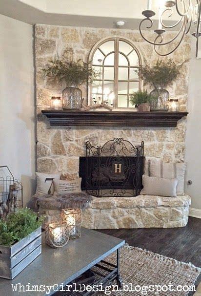 stone fireplace decor 1000 ideas about fireplace mirror on pinterest