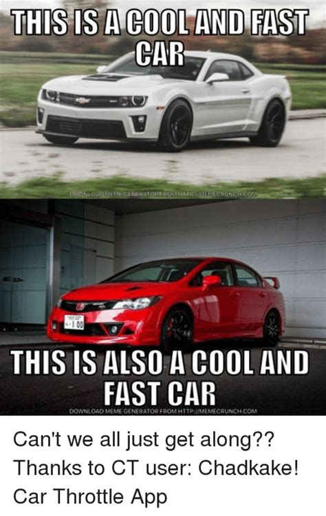 Fast Car Meme - this is a cool and fast car emege ecrunch i 00 this is