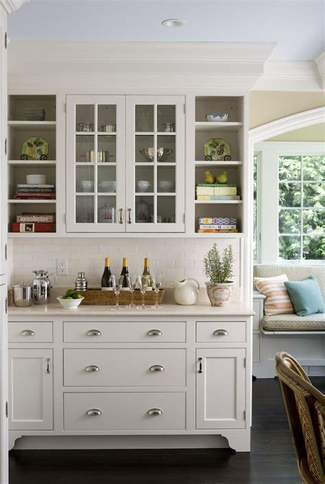 glass shelves for kitchen cabinets love this glass doors and open shelving look makes this