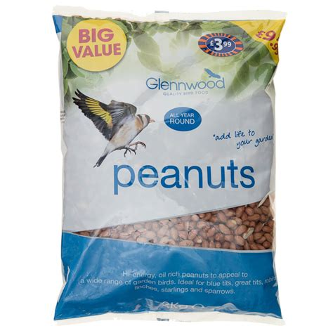 glennwood bird peanuts 2kg bird food