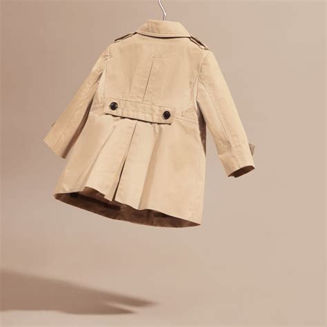 Cotton Trench Coat cotton trench coat in burberry