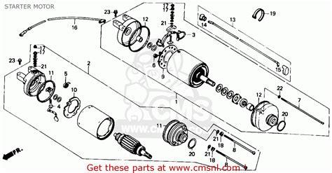 1986 honda fourtrax 350 parts honda trx350 fourtrax 4x4 1986 usa starter motor