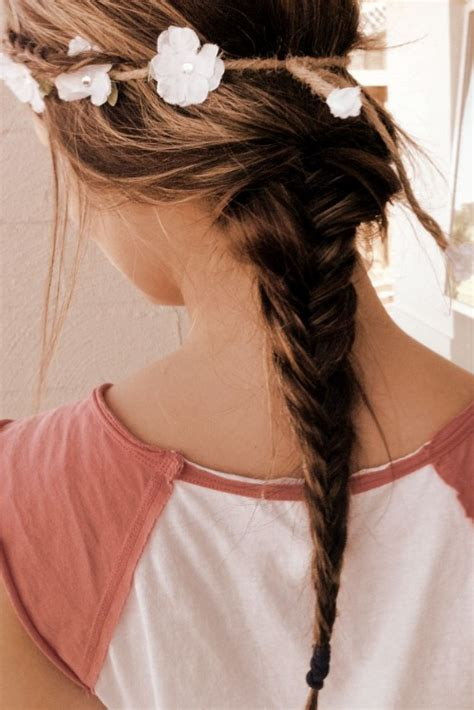 hairstyles girl tumblr loose ponytail romantic 2 strand braid hairstyle for
