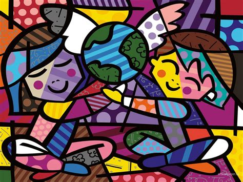 romero britto pinturas e quadros do romero britto