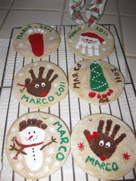 painted handprint ornaments pip