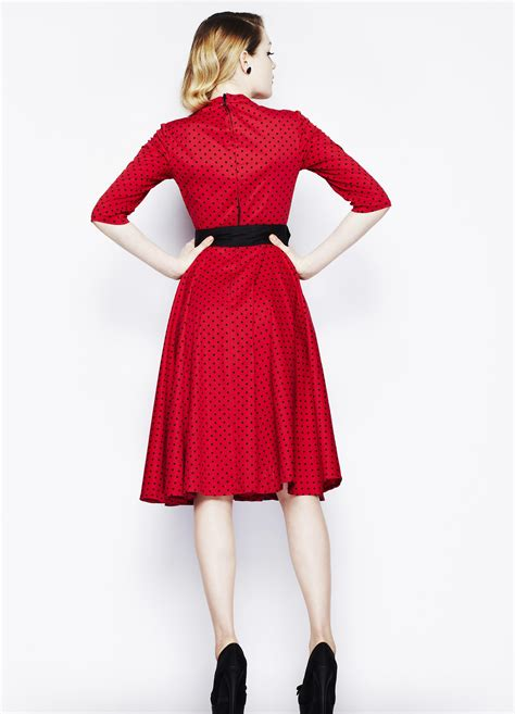 bunny swing hell bunny 50 s dress rockabilly momo vintage swing red