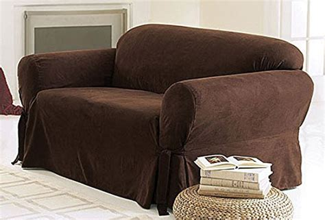 chocolate brown slipcovers green living group chezmoi collection soft micro suede
