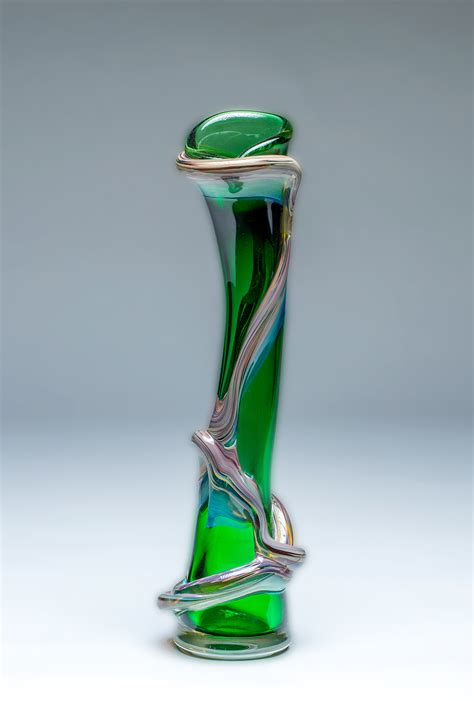 Vines Vase by Vine Vase In Pine Green By Chris Mosey Glass Vase