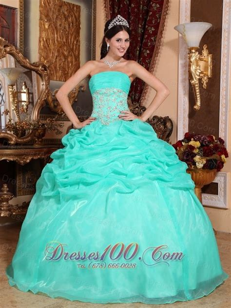 2013 turquoise quinceanera dress appliques up