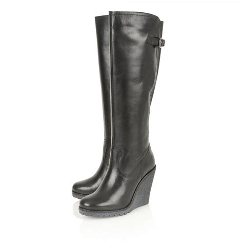 buy ravel delta knee high wedge boots in
