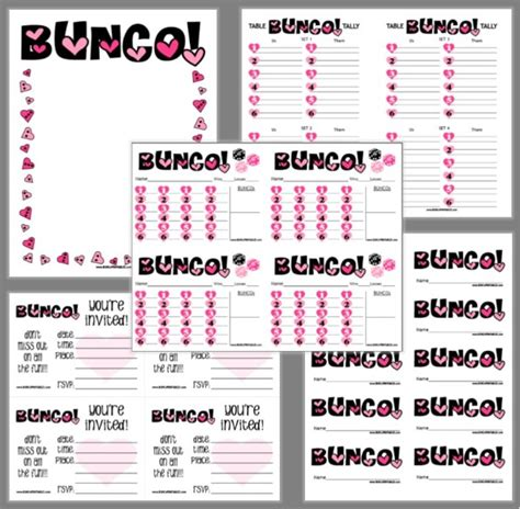 bunco score card templates valentines bunco bunco printables