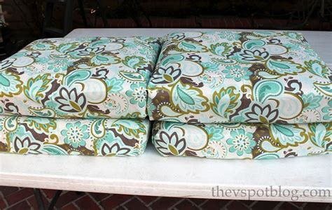 Fabric To Recover No Sew Project How To Recover Your Outdoor Cushions Using