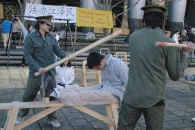 tiger bench torture falun gong anti torture exhibition in auckland scoop news
