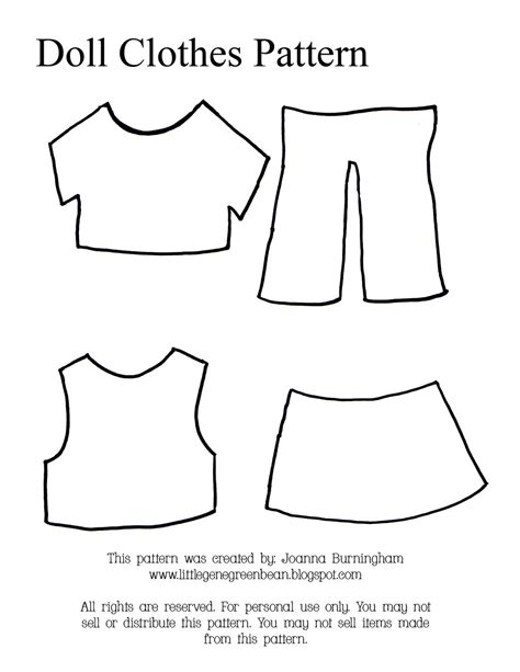 clothing templates gene green bean four easy and cheap