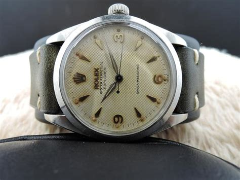Hermes Tetty 6298 1953 rolex oyster perpetual 6298 explorer big bubbleback with honeycom alex pig timepieces
