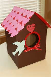 Paper Bag Crafts For Preschoolers - preschool crafts for valentin s day bird house card