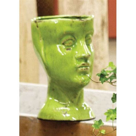 Head Planter Pots For Sale by Green Ceramic Head Planter Kalalou Indoor Planters
