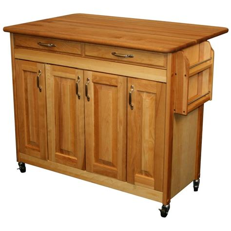 drop leaf kitchen islands catskill craftsmen 44 3 8 in butcher block kitchen island