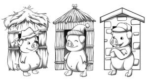 coloring page straw house color pages of pigs coloring pages for free