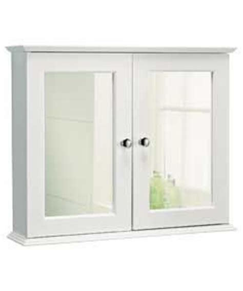 buy door mirrored bathroom cabinet white at argos