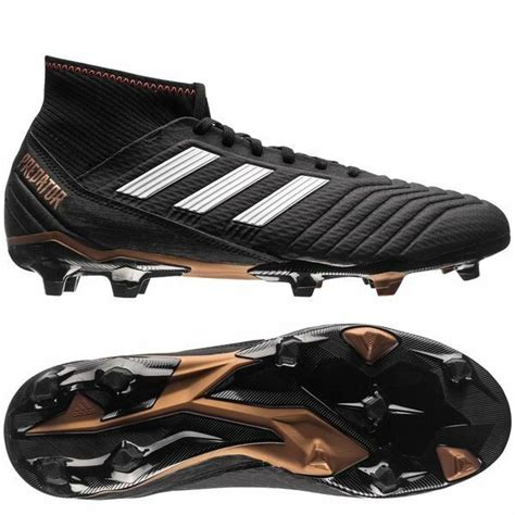 adidas predator 18 3 fg 2018 soccer cleats shoes brand new black white gold ebay