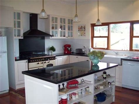 Kitchens With Black Cabinets by Pyrenees Quarries Castlemaine